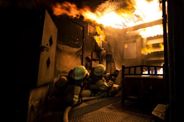 Brandübungscontainer bei der Feuerwehr Meersburg