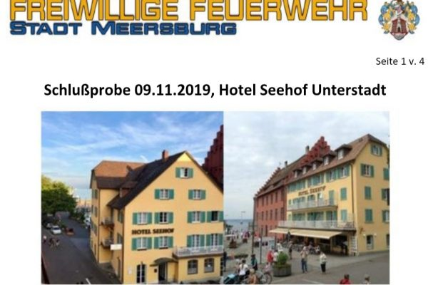Feuerwehr Meersburg Jahreshauptübung 2019